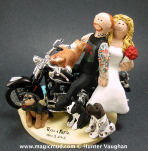 Tattooed Groom Wedding Cake Topper