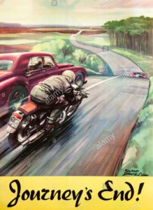 journeys-end-1950s-motorcycling-safety-poster-by-roland-davies-showing-BNYA6W